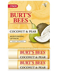 Burt's Bees 2-Pc. Coconut & Pear Lip Balm