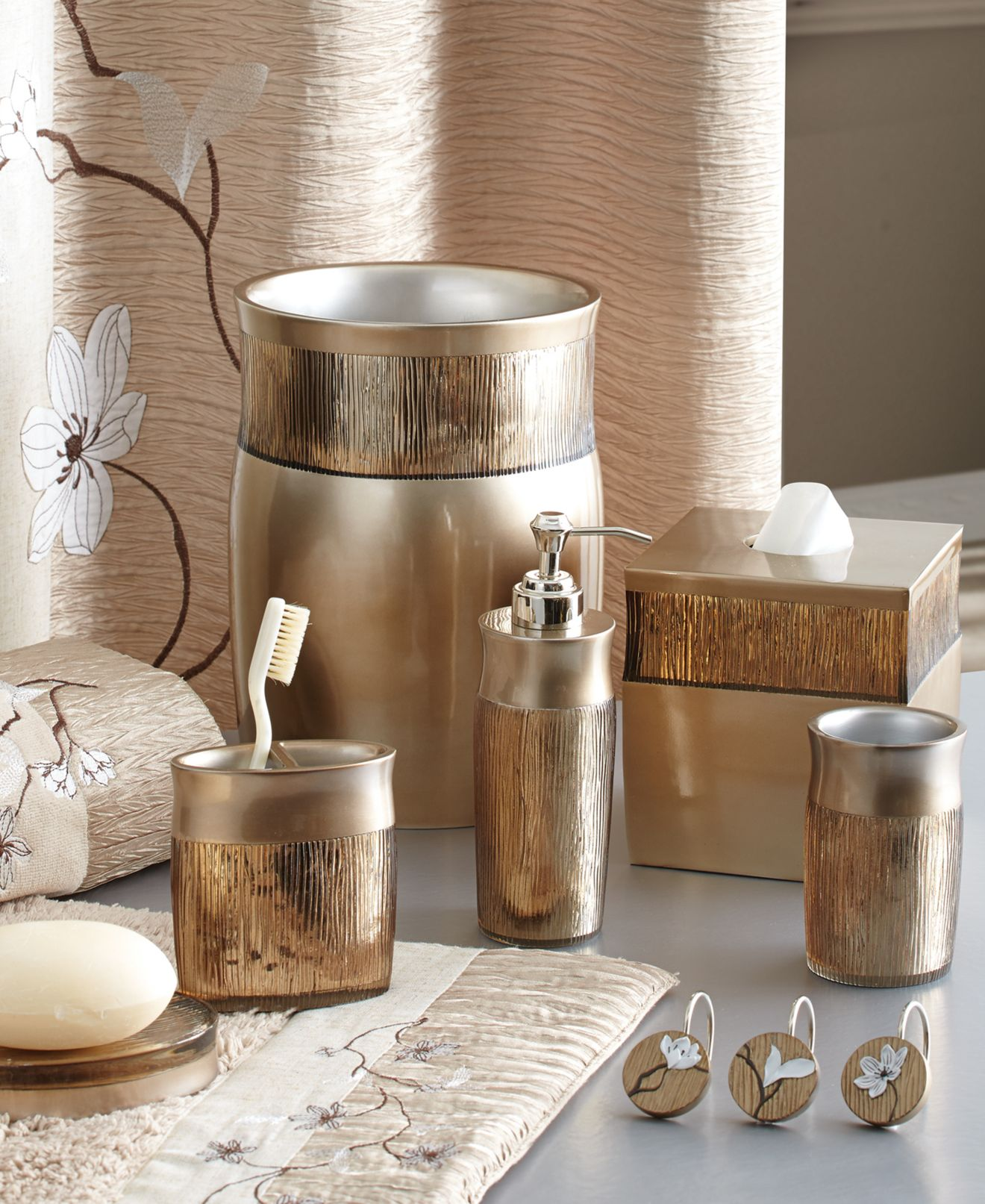 croscill magnolia bath collection - bathroom accessories - bed