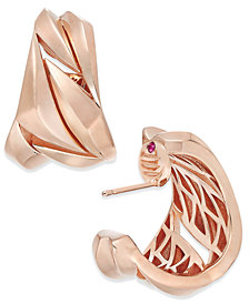 The Fifth Season by Roberto Coin 18k Rose Gold-Plated Sterling Silver Hoop Earrings 7771158SXER00