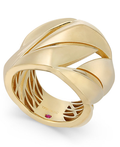 The Fifth Season by Roberto Coin 18k Gold-Plated Sterling Silver Statement Ring 7771140SY650