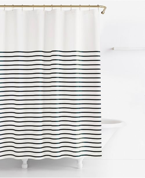 kate spade new york Harbour Stripe Shower Curtain - Shower Curtains ...