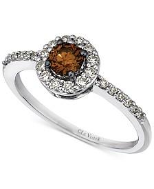 Le Vian Chocolatier® Diamond Ring (1/2 ct. t.w.) in 14k White Gold