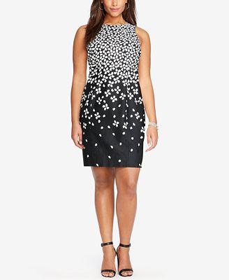 Lauren Ralph Lauren Plus Size Floral-Print Sateen Dress