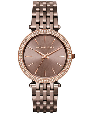 Michael Kors Women S Darci Sable Ion Plated Stainless