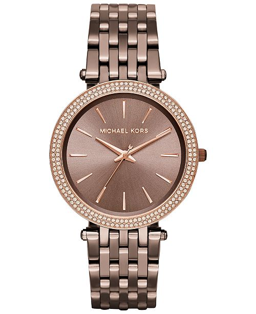 Michael Kors Women's Darci Sable Ion-Plated Stainless Steel Bracelet Watch 39mm MK3416