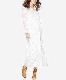 A Pea In The Pod Maternity Button-Front Midi Dress