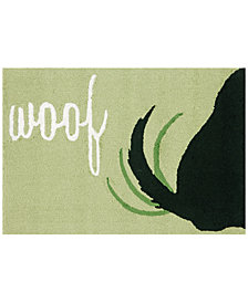 Liora Manne Front Porch Indoor/Outdoor Woof Green 2' x 3' Area Rug