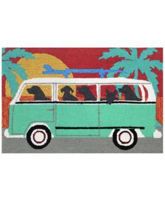 Liora Manne Front Porch Indoor/Outdoor Beach Trip Turquoise 2' x 3' Area Rug