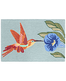 Liora Manne Front Porch Indoor/Outdoor Hummingbird Sky 2' x 3' Area Rug