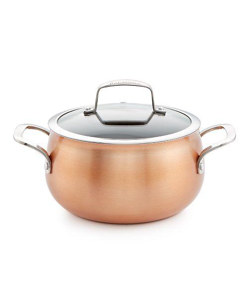 Belgique Copper Translucent 3-Qt  Soup Pot with Lid, Created