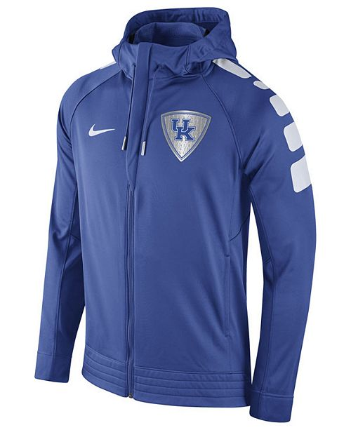 398289c3 Nike Men's Kentucky Wildcats Elite Stripe Basketball Performance Full-Zip  Hoodie