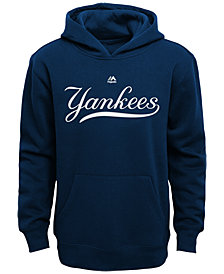 Majestic Kids' New York Yankees Wordmark Fleece Hoodie, Big Boys (8-20)