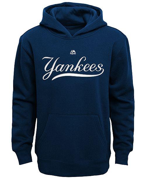 ece31530f Majestic Kids' New York Yankees Wordmark Fleece Hoodie, Big Boys (8 ...