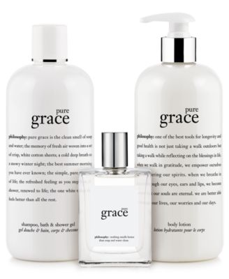 pure grace 3-in-1 shampoo, shower gel and bubble bath, 16 oz