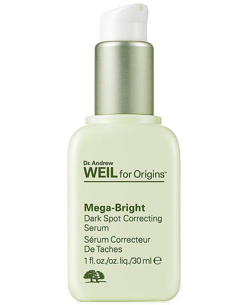 Origins Dr. Andrew Weil for Origins Mega-Bright Dark Spot Skin Tone Correcting Serum, 1 oz.