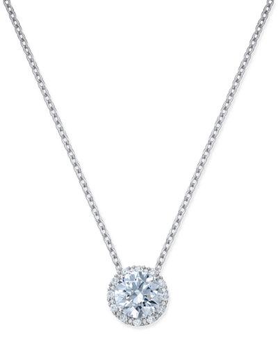 Arabella swarovski zirconia halo pendant necklace in sterling silver arabella swarovski zirconia halo pendant necklace in sterling silver mozeypictures Image collections