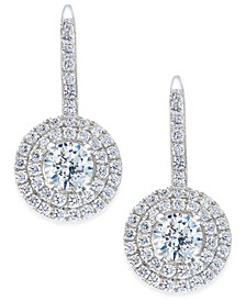 Swarovski Zirconia Circle Cluster Drop Earrings in Sterling Silver, Created for Macy's