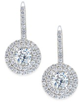 ba4562584914 Arabella Swarovski Zirconia Circle Cluster Drop Earrings in Sterling Silver
