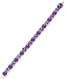 Purple and Pink Amethyst Tennis Bracelet (53 ct. t.w.) in Sterling Silver