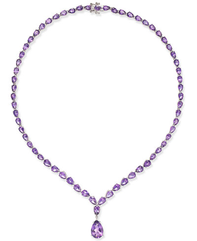 Amethyst (28 ct. t.w.) Statement Necklace in Sterling Silver
