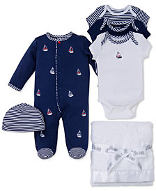 Little Me Baby Boys Sailboat Gift Bundle