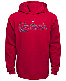 Majestic MLB Worldmark St. Louis Cardinals Fleece Hoodie, Little Boys (4-7)