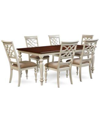 Furniture Windward 7-Pc. D..  sc 1 st  Macyu0027s & Furniture Athena 6-Pc. Dining Set (Dining Trestle Table 4 Side ...
