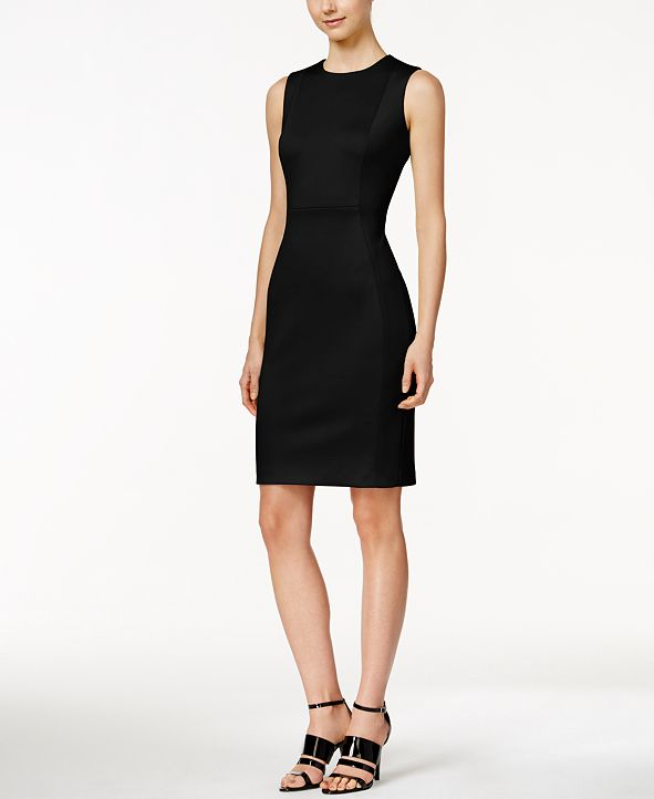 Calvin Klein Scuba Crepe Sheath Dress