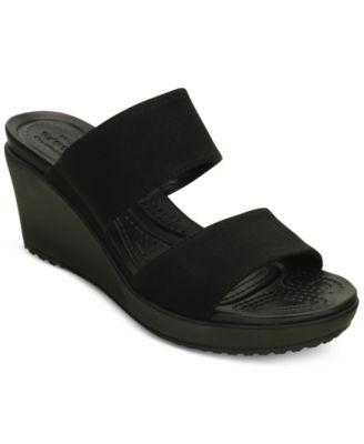 Leigh II 2-Strap Wedge Sandals