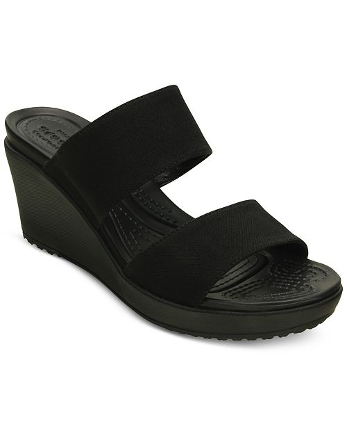 9688e6c7a362 Crocs Women s Leigh II 2-Strap Wedge Sandals   Reviews - Sandals ...
