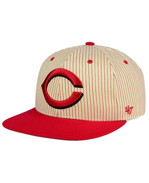 '47 Brand Cincinnati Reds Woodside Captain Snapback Cap
