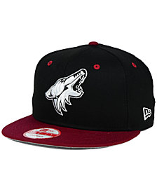 New Era Arizona Coyotes Black White Team Color 9FIFTY Snapback Cap