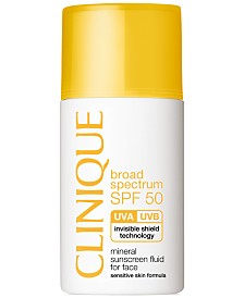 Clinique Broad Spectrum SPF 50 Mineral Sunscreen Fluid For Face, 1 oz.