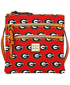 Dooney & Bourke Georgia Bulldogs Triple Zip Crossbody Bag