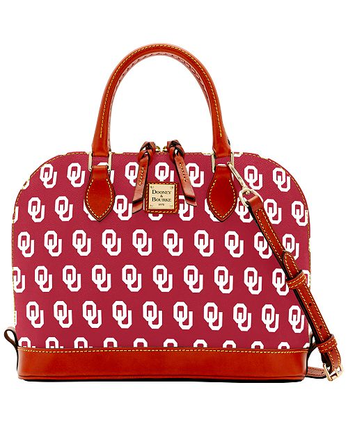 Dooney & Bourke Oklahoma Sooners Zip Zip Satchel