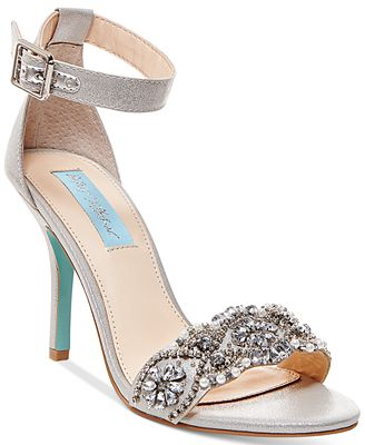 Blue by Betsey Johnson GINA - High heeled sandals - silver