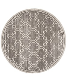 Amherst Indoor/Outdoor AMT412C Grey/Light Grey 7' x 7' Round Area Rug