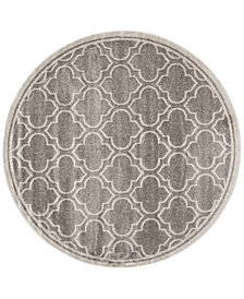 Safavieh Amherst Indoor/Outdoor AMT412C Grey/Light Grey 7' x 7' Round Area Rug