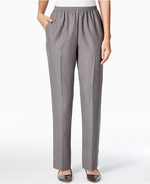 da63b503 Alfred Dunner Classics Pull-On Straight-Leg Pants & Reviews - Pants ...