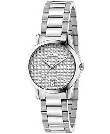 Gucci Women's Swiss G-Timeless Stainless Steel Bracelet Watch 27mm YA126551