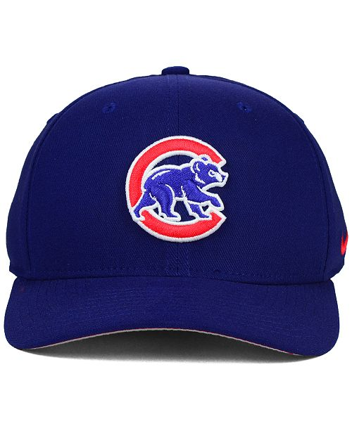 promo code d043b 891da ... Nike Chicago Cubs Ligature Swoosh Flex Cap ...