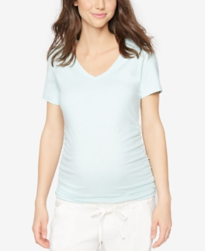 A Pea In The Pod Maternity V-Neck Ruched Tee plus size,  plus size fashion plus size appare