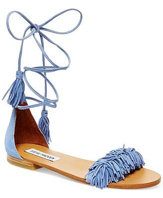 Steve Madden Women's Sweetyy Lace-Up Flat Sandals