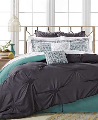 closeout! sutton charcoal 8-pc. comforter set, created for macy's