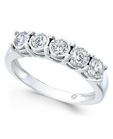 Diamond Five-Stone Band (1/2 ct. t.w.) in 14k White Gold