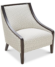 Landor Printed Fabric Accent Chair