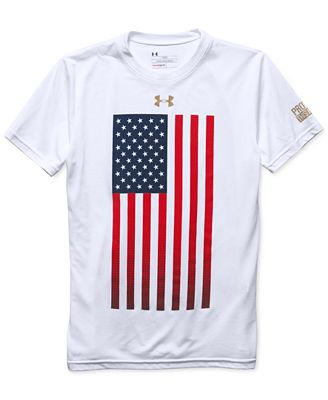 under armour boys 39 usa flag t shirt shirts tees kids