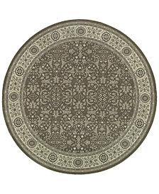 """Oriental Weavers Richmond Floral Sarouk Grey/Ivory 7'10"""" Round Rug"""