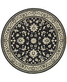 "Oriental Weavers Richmond Pira Charcoal/Ivory 7'10"" Round Rug"