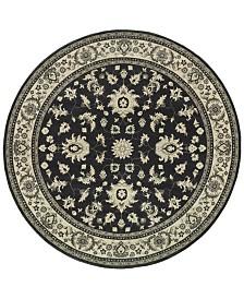 "Oriental Weavers Richmond Pira Charcoal/Ivory 7'10"" Round Rug"
